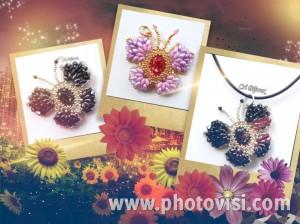 ciondoli farfalle handmade con perline