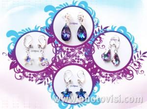orecchini pendenti swarovski