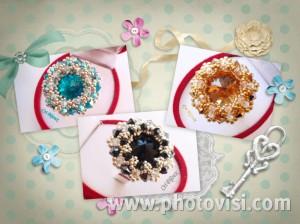 anelli regolabili handmade swarovski