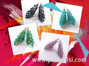 orecchini a cono handmade