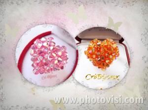 anelli a cuore swarovski handmade
